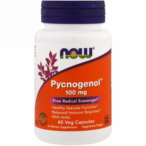 Now Foods, Pycnogenol(ピクノジェノール)、100mg、ベジカプセル60粒