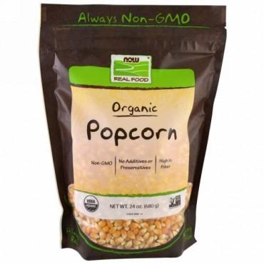Now Foods, リアルフード, 認証済みオーガニックポップコーン、 24 オンス (680 g)