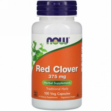 Now Foods, Red Clover, 375 mg, 100 Veg Capsules