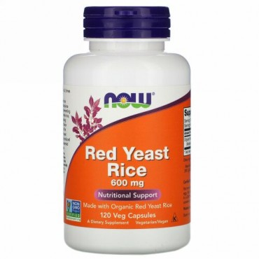 Now Foods, Red Yeast Rice, 600 mg, 120 Veg Capsules