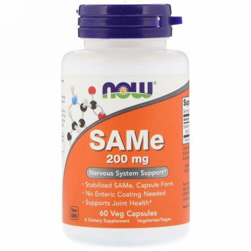 Now Foods, SAMe、200 mg、60ベジカプセル