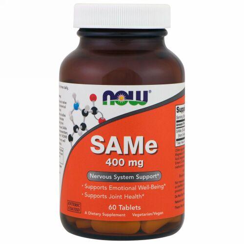 Now Foods, SAMe、400 mg、60錠