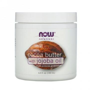 Now Foods, ソリューション、ココアバター、ホホバオイル配合、6.5 液オンス (192 ml)
