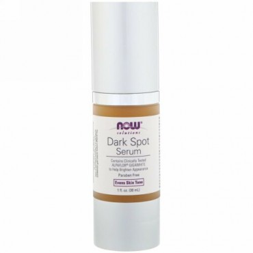 Now Foods, 溶液、ダークスポットセラム、1液体オンス(30 ml)