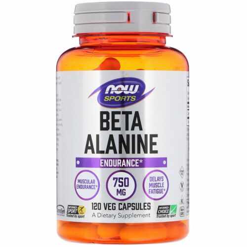 Now Foods, スポーツ, ベータ-アラニン, 750 mg, 120 カプセル