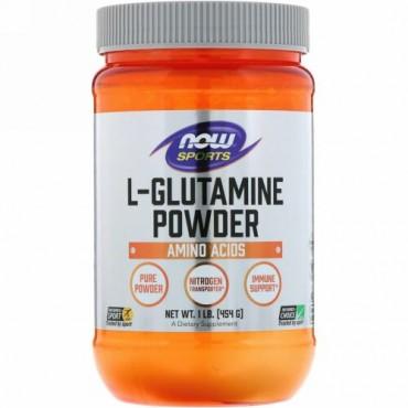 Now Foods, スポーツ、L-グルタミンパウダー、454g(1 lbs)