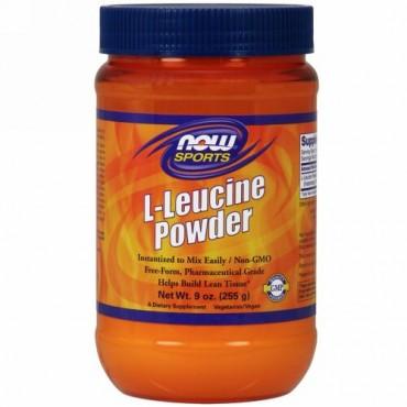 Now Foods, スポーツ、L-ロイシンパウダー、255 g(9 oz)