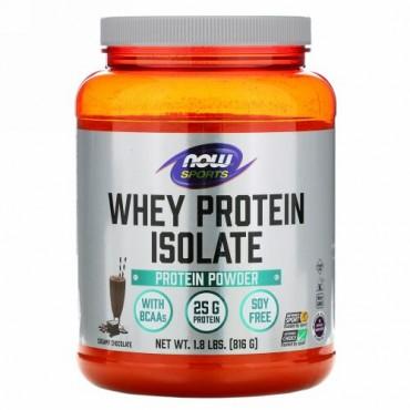 Now Foods, スポーツ、ホエイタンパク質アイソレート、ダッチチョコレート、1.8 lbs (816 g)