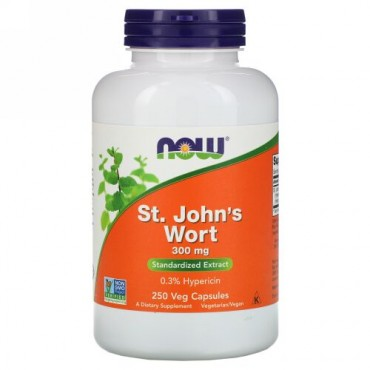 Now Foods, セント ジョーンズ ワート, 300 mg, 250 ベジキャップ