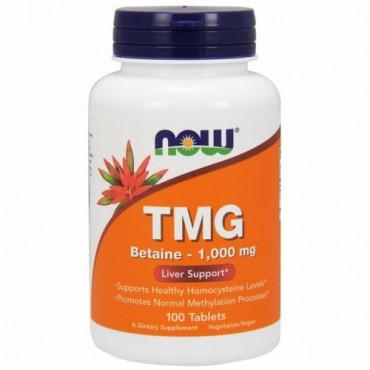 Now Foods, TMG (トリメチルグリシン)、1,000 mg、 100粒