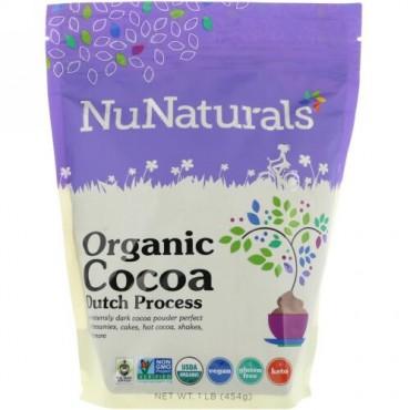 NuNaturals, Organic Cocoa, 1 lb (454 g) (Discontinued Item)