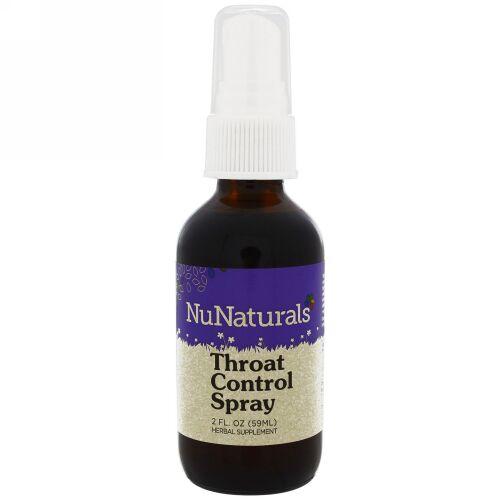 NuNaturals, スロートコントロール(のど用)スプレー、2 fl oz (59 ml) (Discontinued Item)