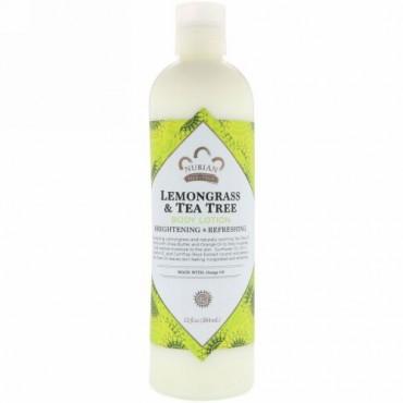 Nubian Heritage, ボディローション, レモングラス & ティーツリー, 13 液量オンス (384 ml)