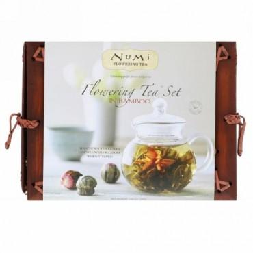 Numi Tea, フラワリングティーセットインバンブー、1ティーセット