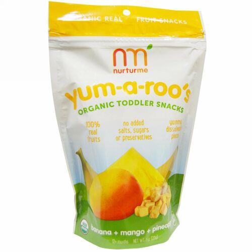 NurturMe, オーガニック、ヤム-ア-ルーズ、バナナ + マンゴー + パイナップル、1 oz (28 g) (Discontinued Item)