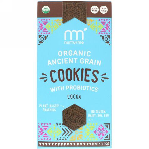 NurturMe, Organic Ancient Grain Cookies, With Probiotics, Cocoa, 5 oz (142 g) (Discontinued Item)