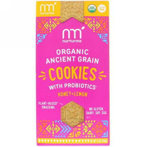 NurturMe, Organic Ancient Grain Cookies, With Probiotics, Honey + Lemon, 5 oz (142 g) (Discontinued Item)