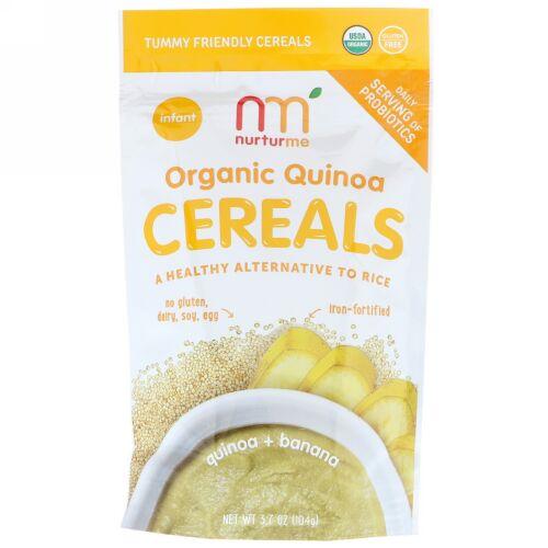 NurturMe, Organic Quinoa Cereal, Quinoa + Banana, Infant, 3.7 oz (104 g) (Discontinued Item)