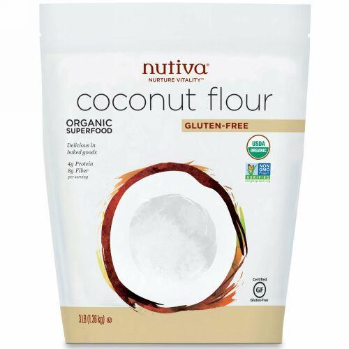 Nutiva, オーガニック、ココナッツ粉、グルテンフリー、1.36 kg