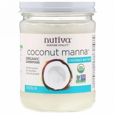 Nutiva, オーガニック, ココナッツマナ, ピューレココナッツ, 15オンス(425 g)