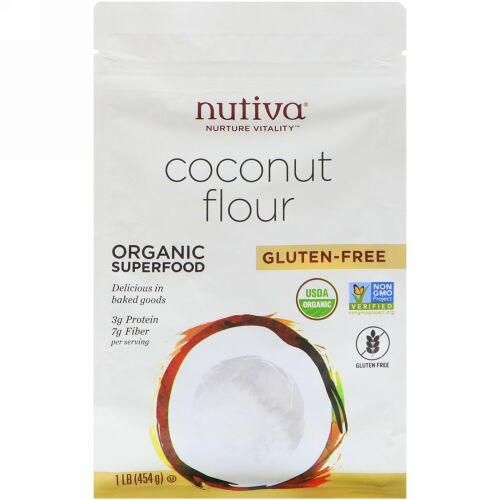 Nutiva, オーガニック、ココナッツ粉、グルテンフリー、454 g