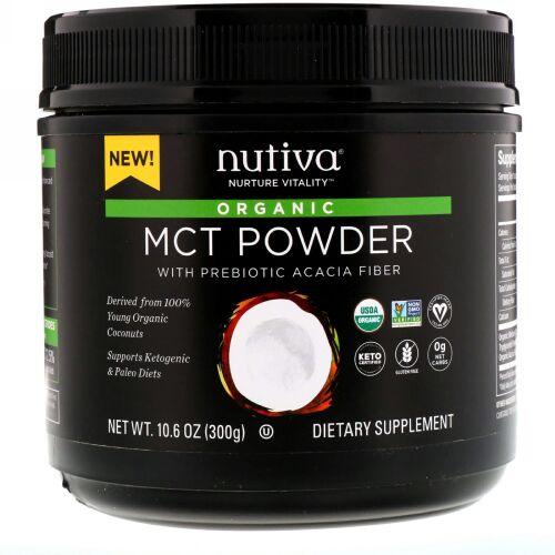 Nutiva, オーガニックMCT(中鎖脂肪酸油)パウダー、300g(10.6 oz)