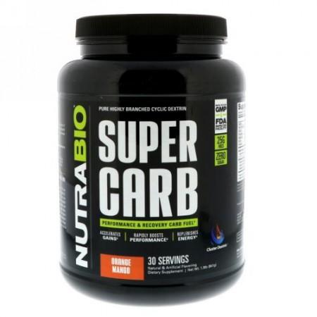 NutraBio Labs, スーパーカーブ、オレンジマンゴー、1.9 lb (841 g) (Discontinued Item)