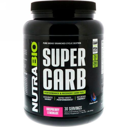 NutraBio Labs, Super Carb, Rasberry Lemonade, 1.8 lb (834 g)