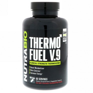 NutraBio Labs, ThermoFuel V9 for Men,180 Vegtable Capsules (Discontinued Item)