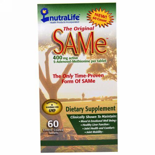 NutraLife, The Original SAMe, 400 mg, 60 Enteric Coated Caplets