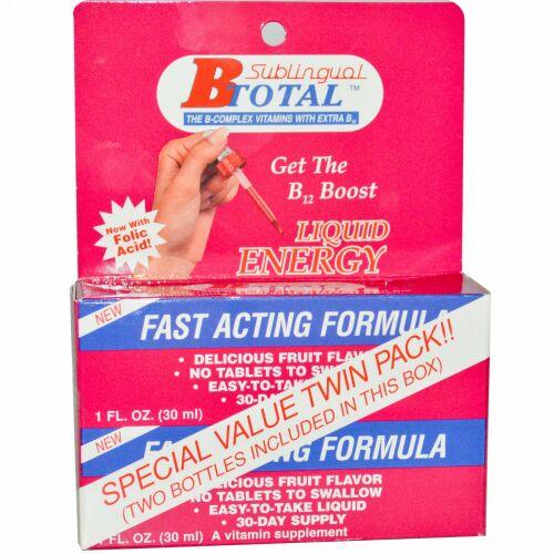 Nutraceutical Solutions, Inc, B トータル、 舌下用、 ツインパック、 2本、 各1液量オンス (30 ml) (Discontinued Item)