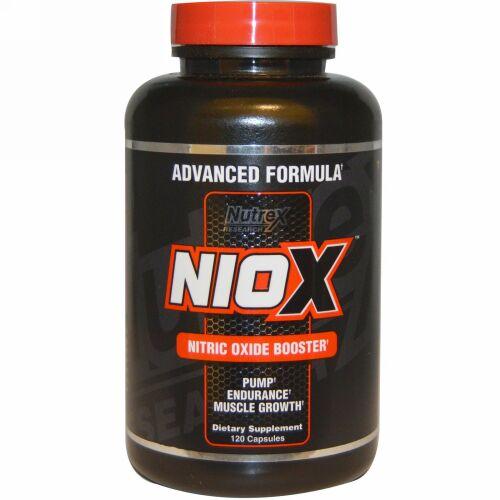 Nutrex Research, NIOX™、一酸化窒素強化剤、120 カプセル (Discontinued Item)
