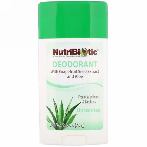 NutriBiotic, Deodorant, Unscented, 2.6 oz (75 g)