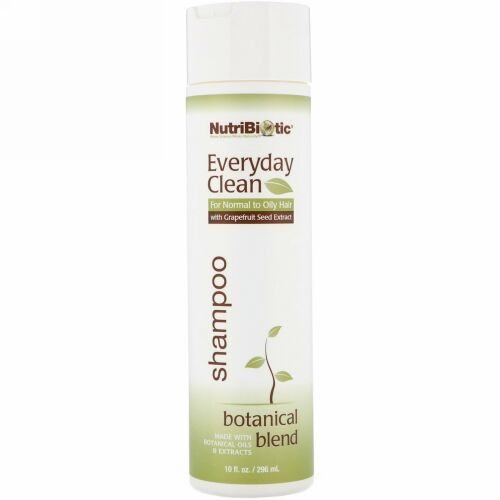 NutriBiotic, Everyday Clean(エブリデイクリーン)、シャンプー、ボタニカルブレンド、296ml(10fl oz)