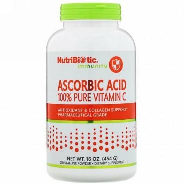 NutriBiotic, イミュニティ、アスコルビン酸、100%ピュアビタミンC、454 g(16 oz)