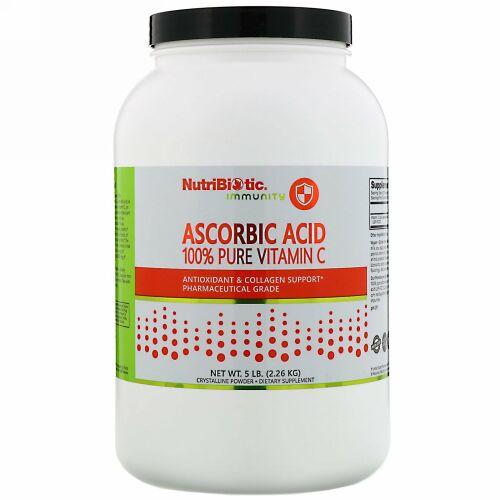 NutriBiotic, Immunity(イミュニティ)、アスコルビン酸、純度100%ビタミンC、結晶性粉末、2.26 kg(5 lb)