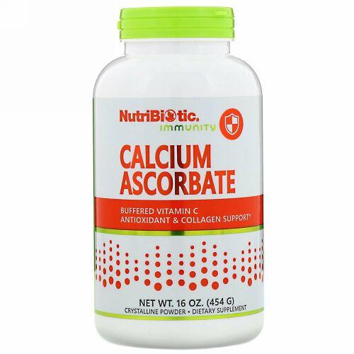 NutriBiotic, Immunity, Calcium Ascorbate, Crystalline Powder, 16 oz (454 g)