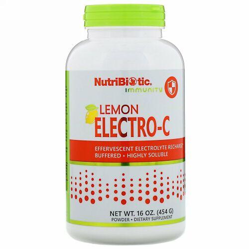 NutriBiotic, Immunity, Lemon Electro-C Powder, 16 oz (454 g)