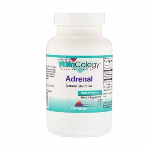 Nutricology, Adrenal, Natural Glandular, 150 Vegi Caps
