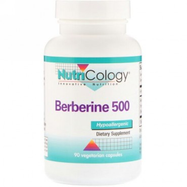 Nutricology, ベルべリン 500、植物性カプセル 90錠