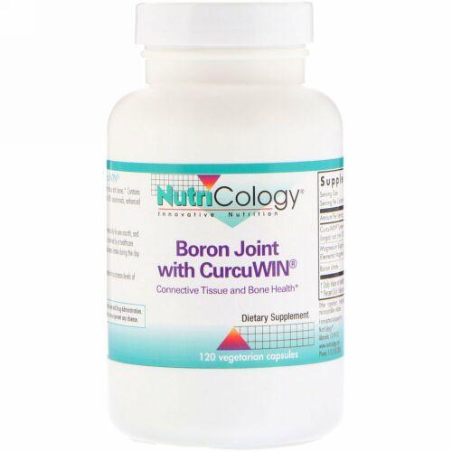 Nutricology, CurcuWin配合ホウ素ジョイント、植物性カプセル120錠