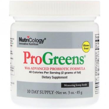 Nutricology, ProGreens with Advanced Probiotic Formula, 3 oz (85 g)