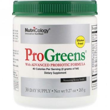 Nutricology, ProGreen(プログリーン)高度なプロバイオティクス配合、265g(9.27オンス)