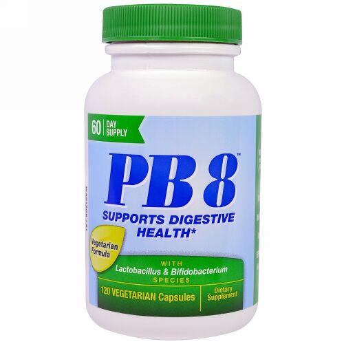Nutrition Now, 乳酸菌&ビフィドバクテリウム配合PB8、ベジカプセル120粒