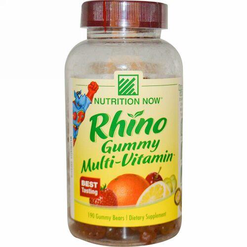 Nutrition Now, Rhino, Gummy Multi-Vitamin, 190 Gummy Bears