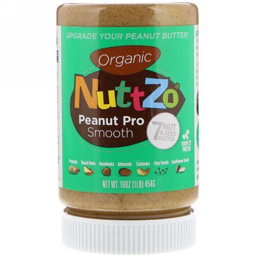 Nuttzo, オーガニック・セブンナッツ & シードバター、プロ・スムーズ、16 oz (454 g) (Discontinued Item)