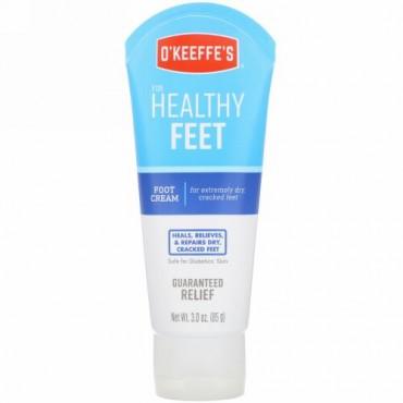 O'Keeffe's, 健康な足、フットクリーム、無香、3 oz (85 g)