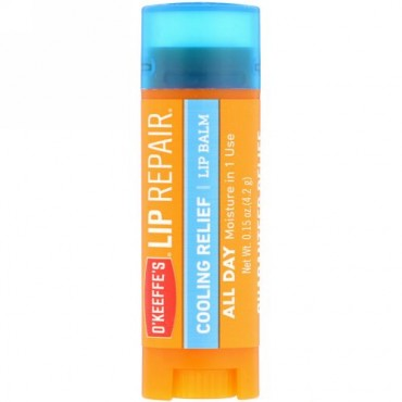 O'Keeffe's, Lip Repair, Cooling Relief, Lip Balm, 0.15 oz (4.2 g) (Discontinued Item)