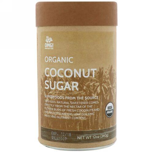 OMG! Organic Meets Good, オーガニック、ココナッツシュガー、12 oz (340 g) (Discontinued Item)