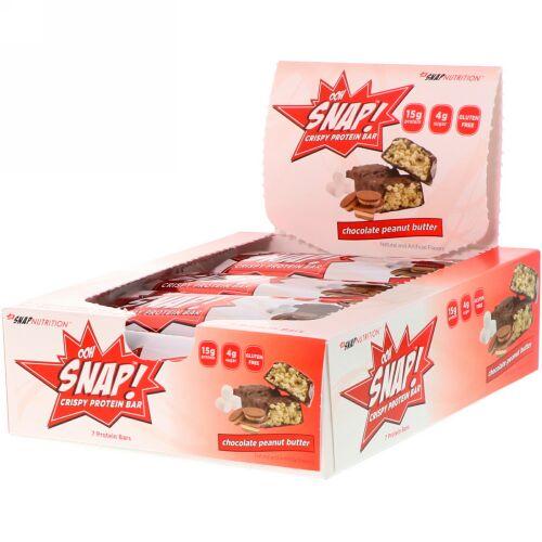 OOH Snap!, クリスピープロテインバー、チョコレートピーナッツバター、プロテインバー7本、各1.62オンス(46 g) (Discontinued Item)